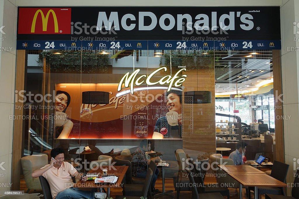 MCDonald's and a McCafe. stock photo