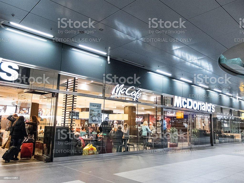 McDonalds and McCafe at Berlin stock photo