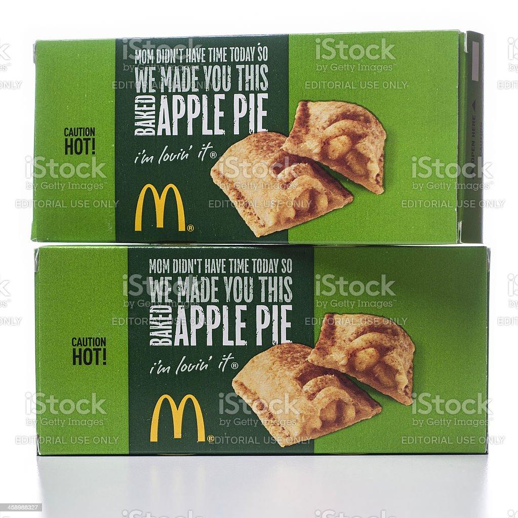 Mcdonalds Apfelkuchen Boxen In Holzschichtoptik Stock-Fotografie und ...