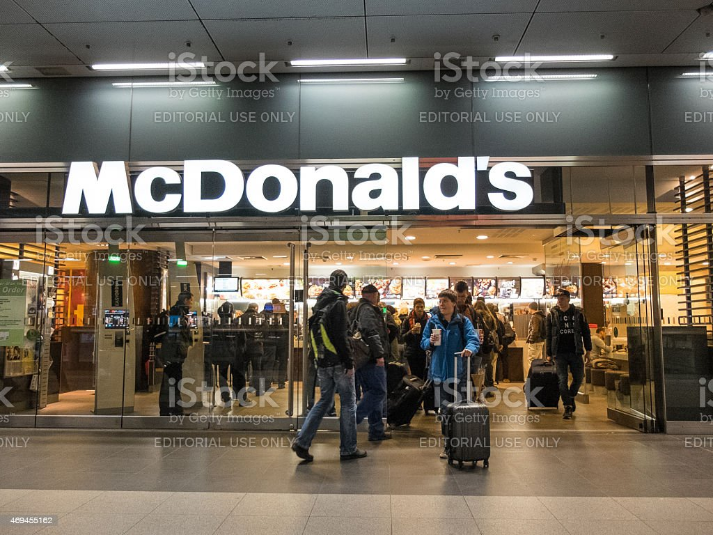 McDonalds at Berlin stock photo