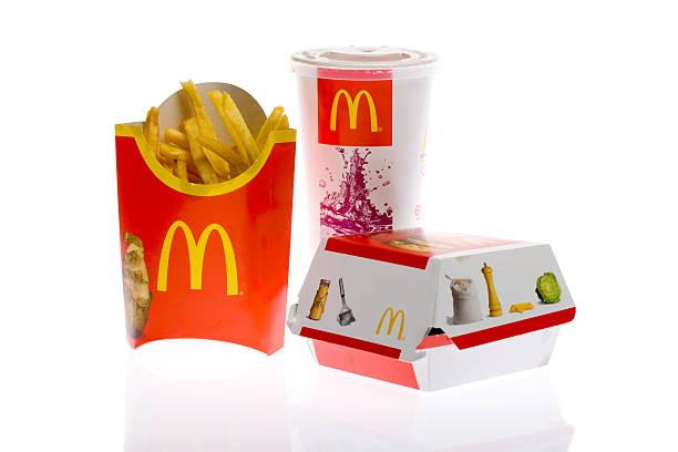 McDonald's Big Mac Burger Meal stock photo