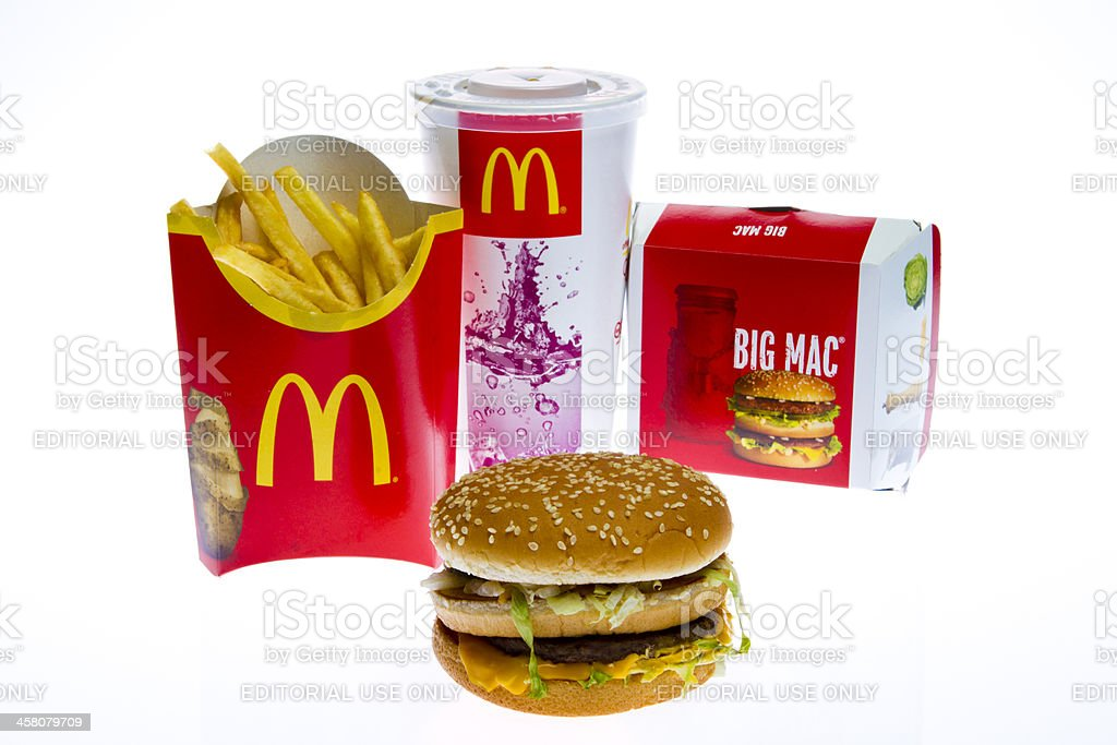 McDonald's Big Mac Menu stock photo
