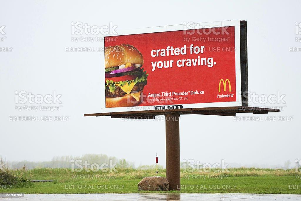 McDonalds Billboard Advertising stock photo