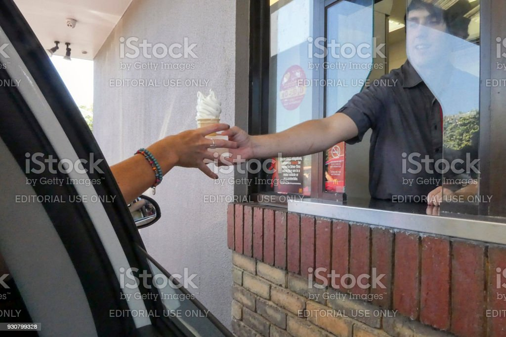 McDonald's Drive Through stock photo