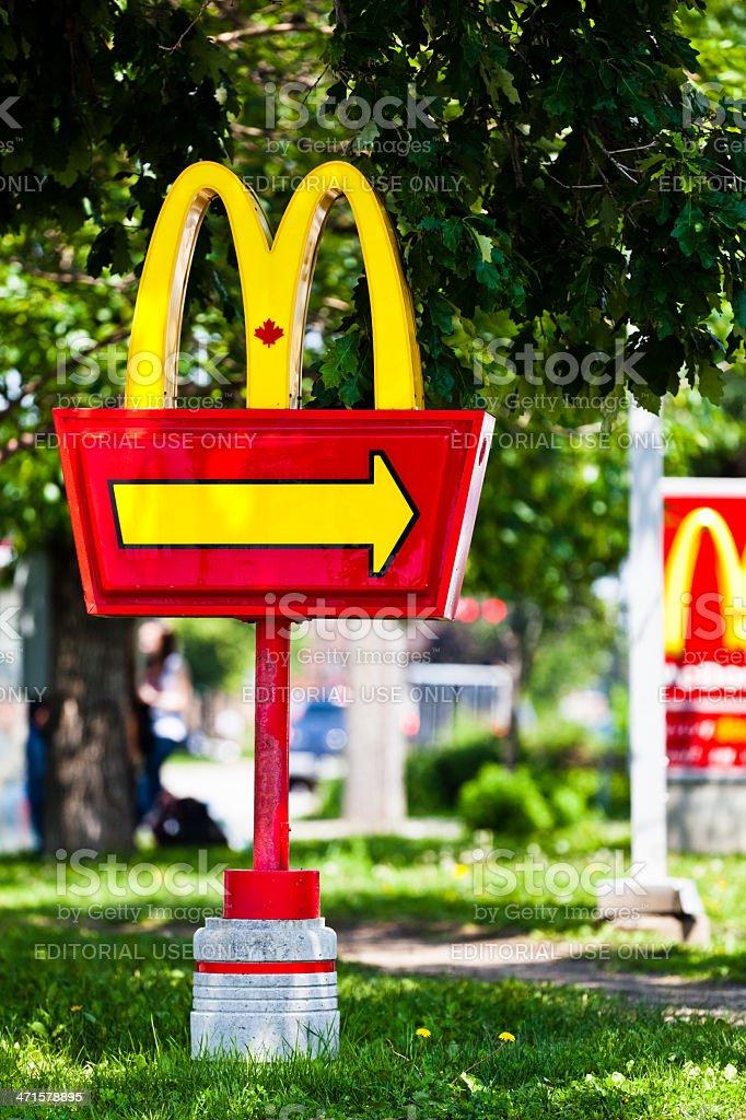 McDonald's Drive-Thru sign royalty-free stock photo