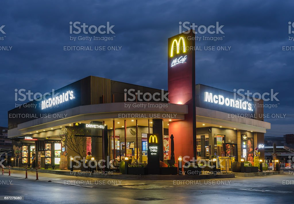 McDonald's exterior stock photo