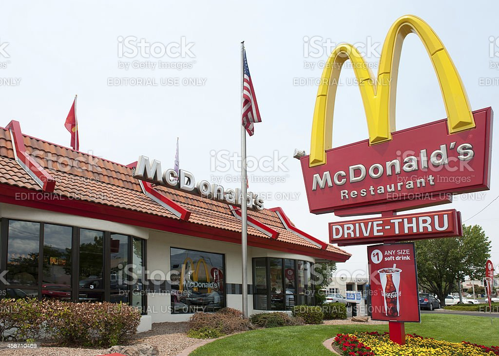 McDonald's Fast Food Restaurant stock photo