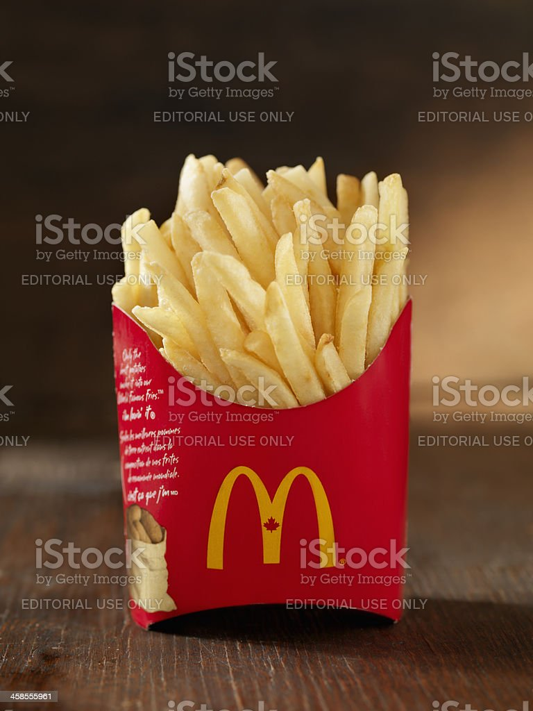 McDonalds French Fries stock photo