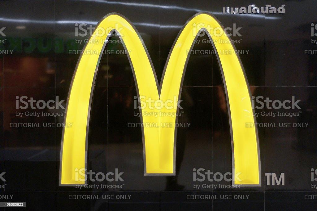 McDonald's Golden Arches Logo stock photo