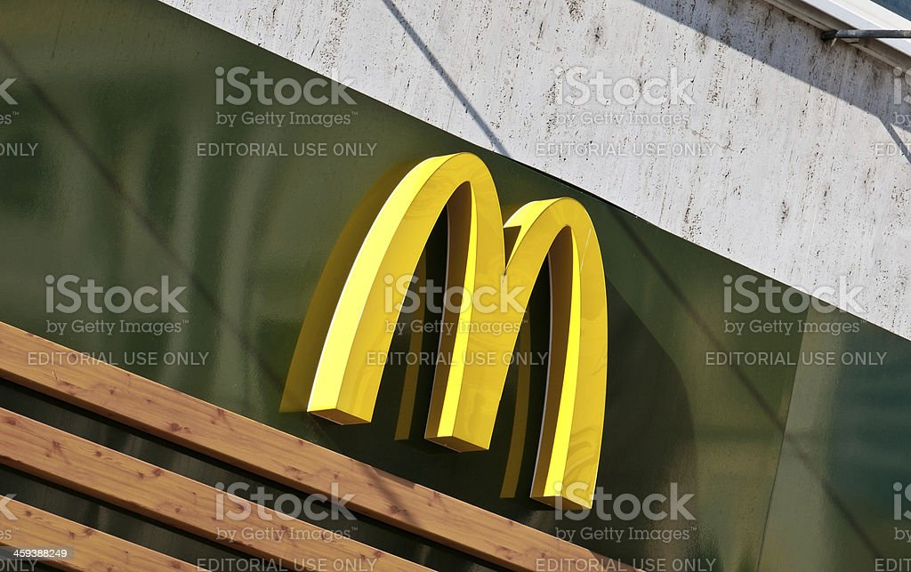 McDonald's Golden Arches Logo stock photo