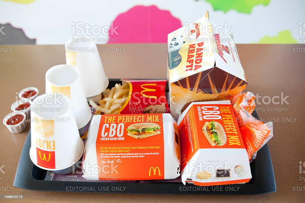 McDonald's Hamburger stock photo