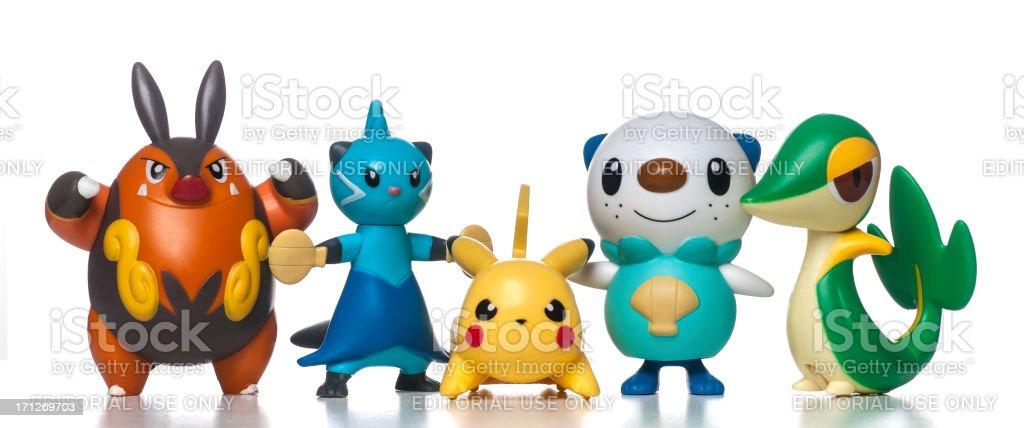 McDonalds Happy Meal Pokemon Toys stock photo