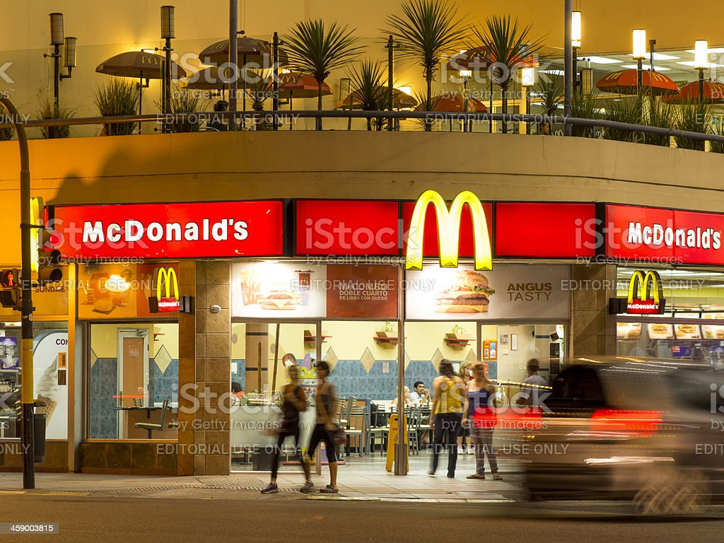 McDonald's in Buenos Aires, Argentina royalty-free stock photo