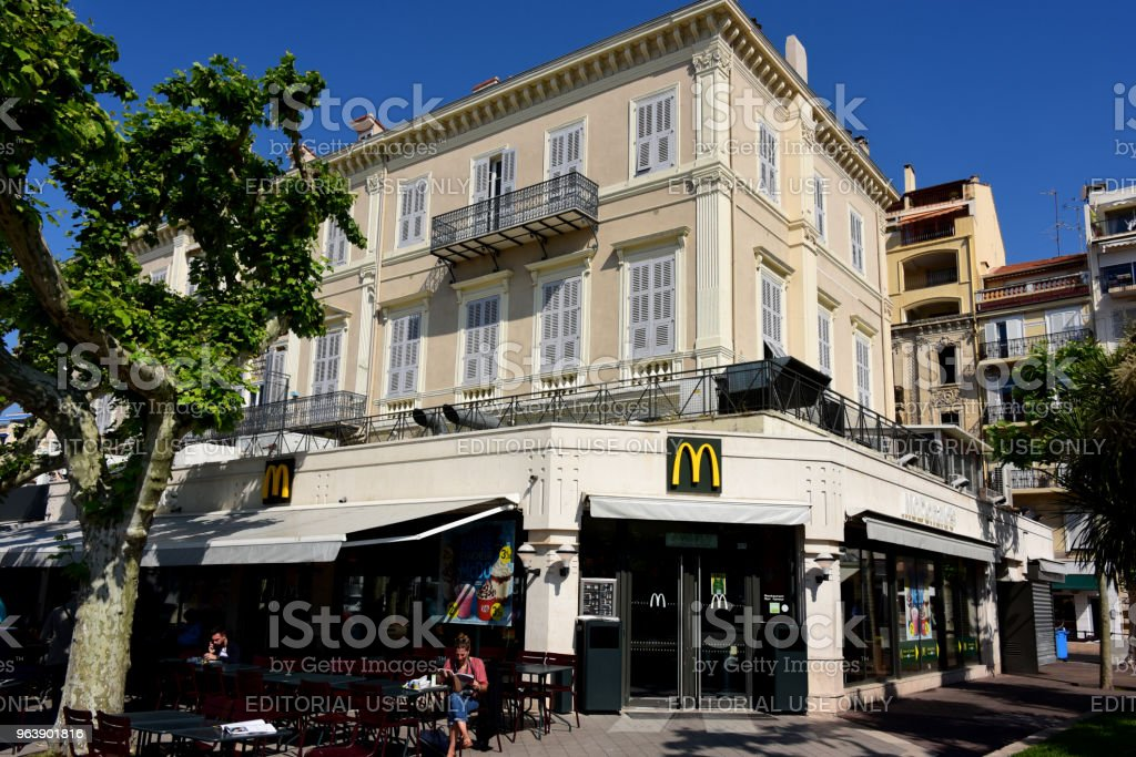 McDonald's in Cannes, France - Royalty-free Arch - Architectural Feature Stock Photo