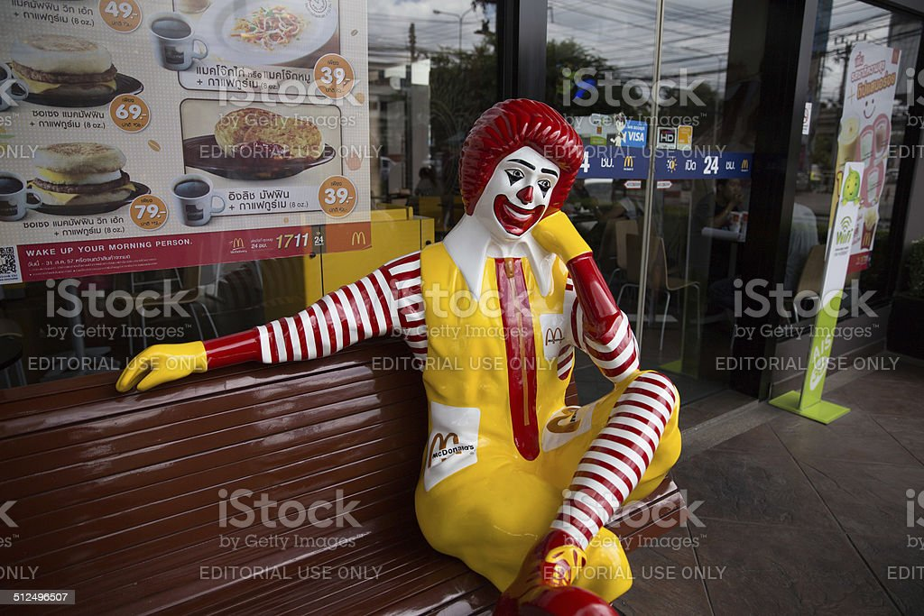 McDonald's in Thailand stock photo
