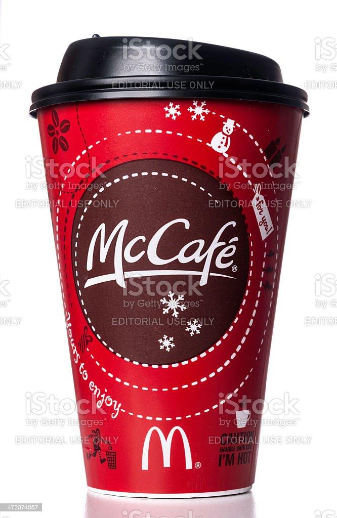 McDonald's McCafé red cup stock photo