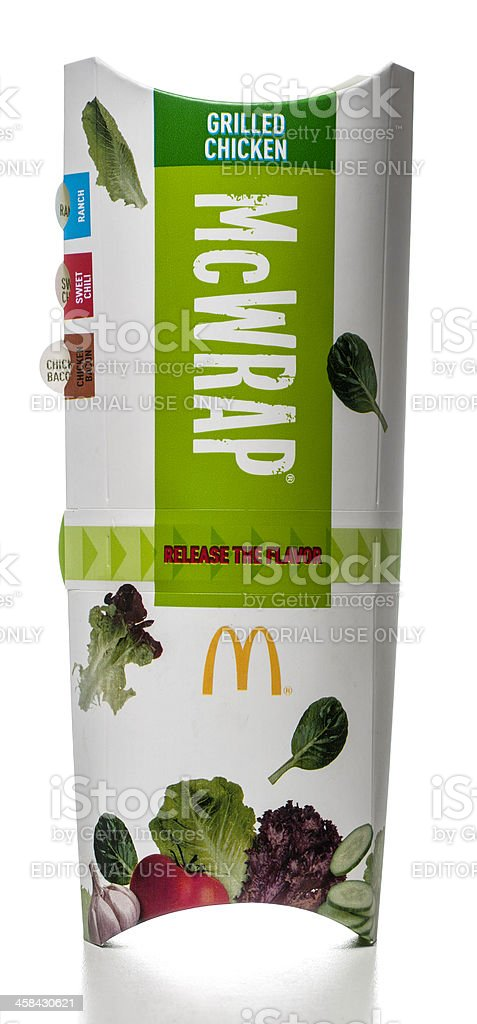 McDonald's Premium McWrap Grilled Chicken royalty-free stock photo