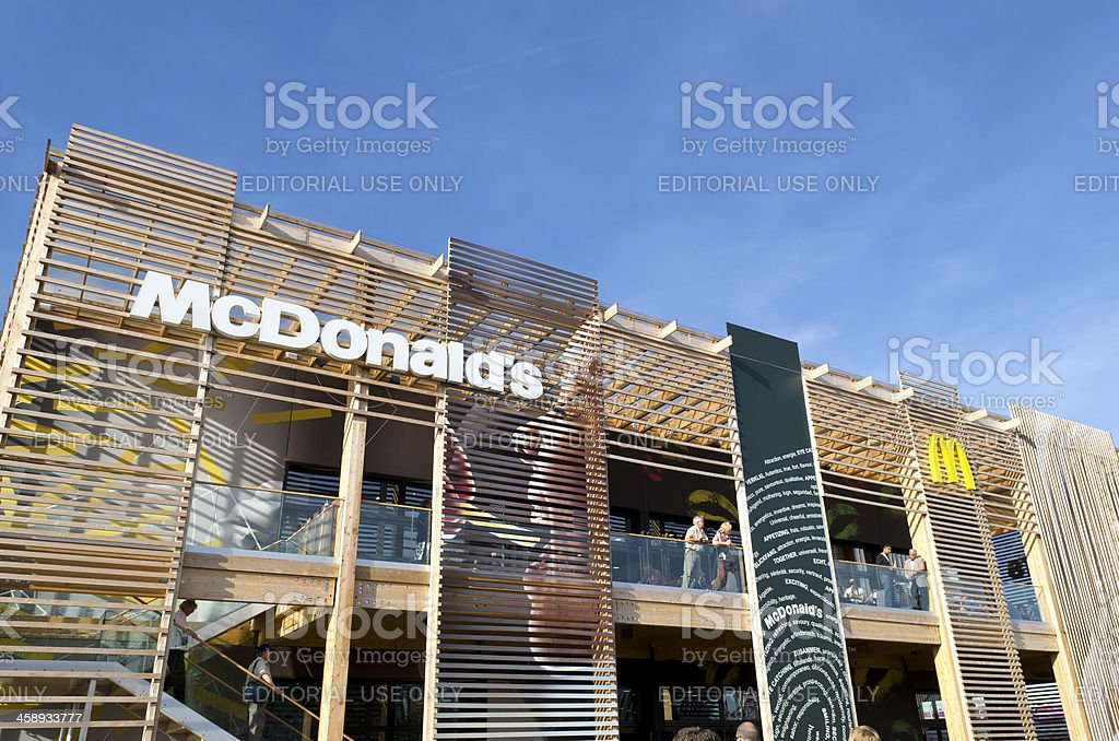 McDonald's restaurant at the London 2012 Olympic Games stock photo
