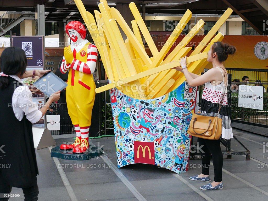 McDonald's Restaurant in Bangkok stock photo