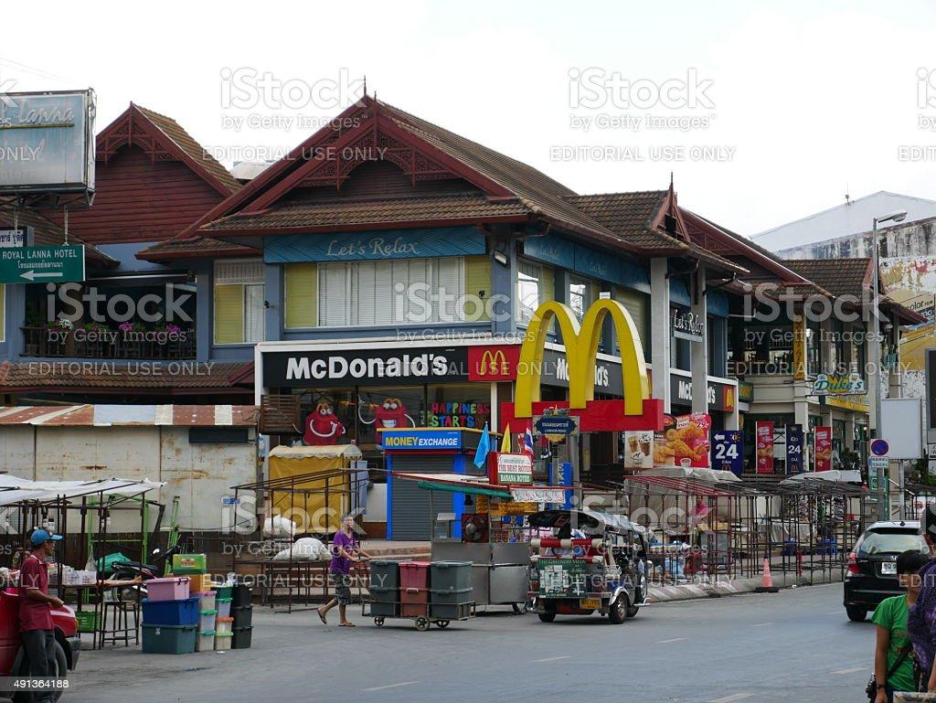McDonald's Restaurant in Chiang Mai, Thailand stock photo