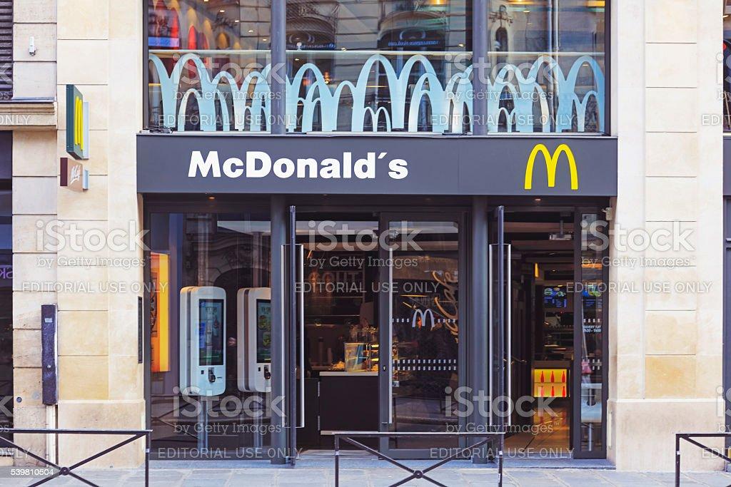 McDonald's restaurant in Paris stock photo