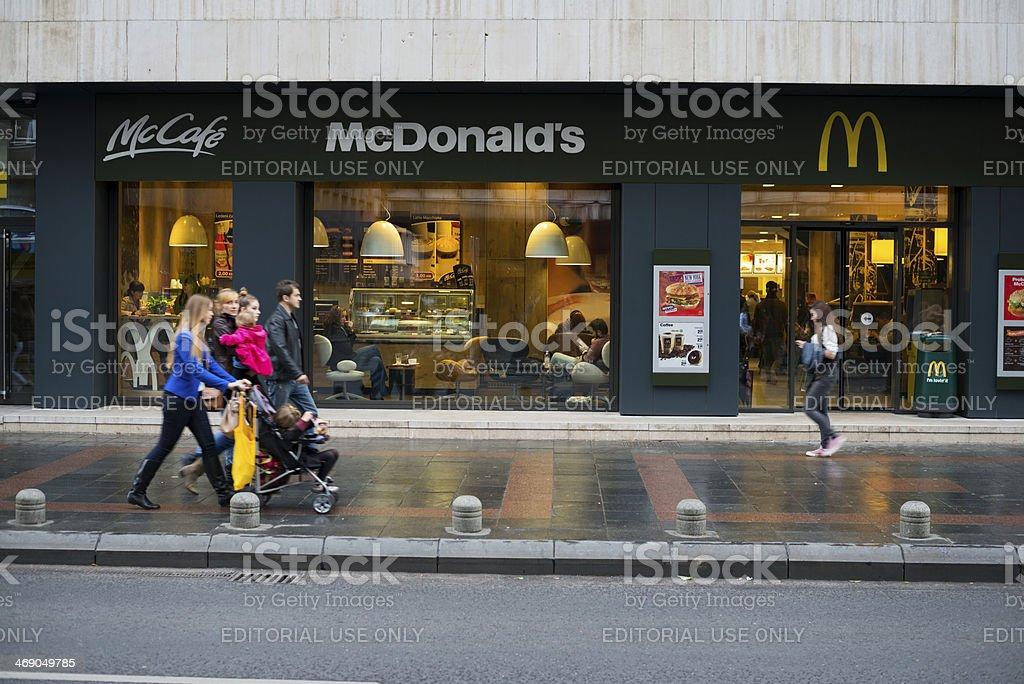McDonald's restaurant in Sarajevo, Bosnia stock photo