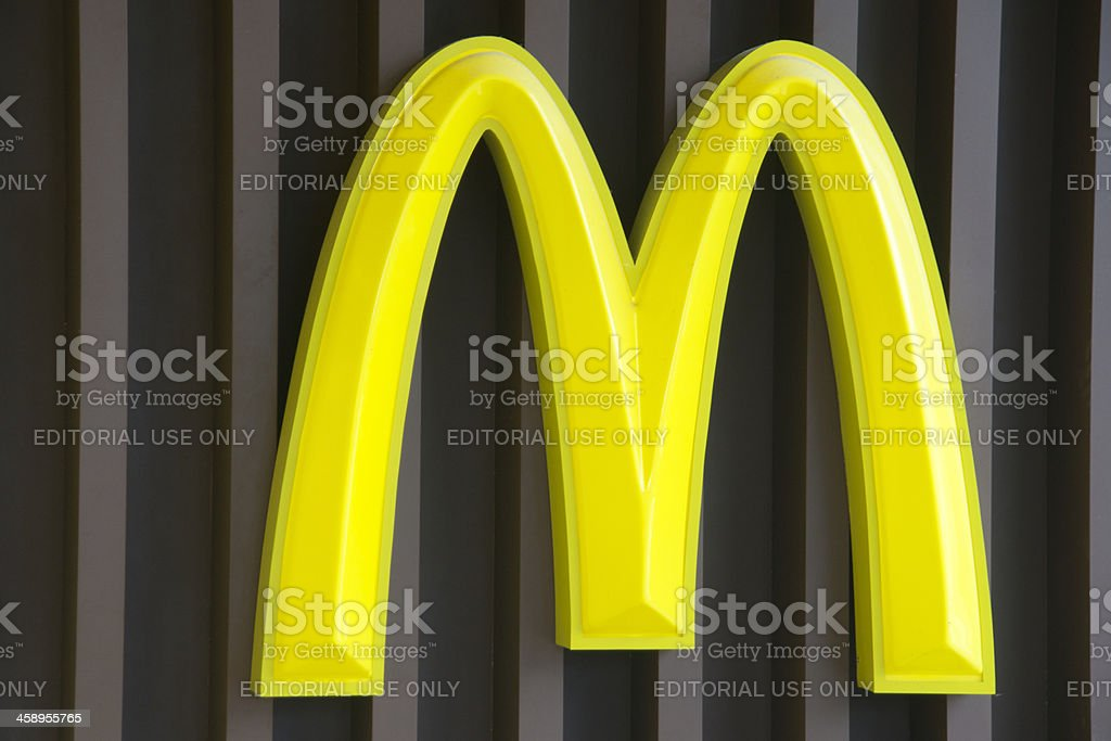 Mcdonald's restaurant logo stock photo