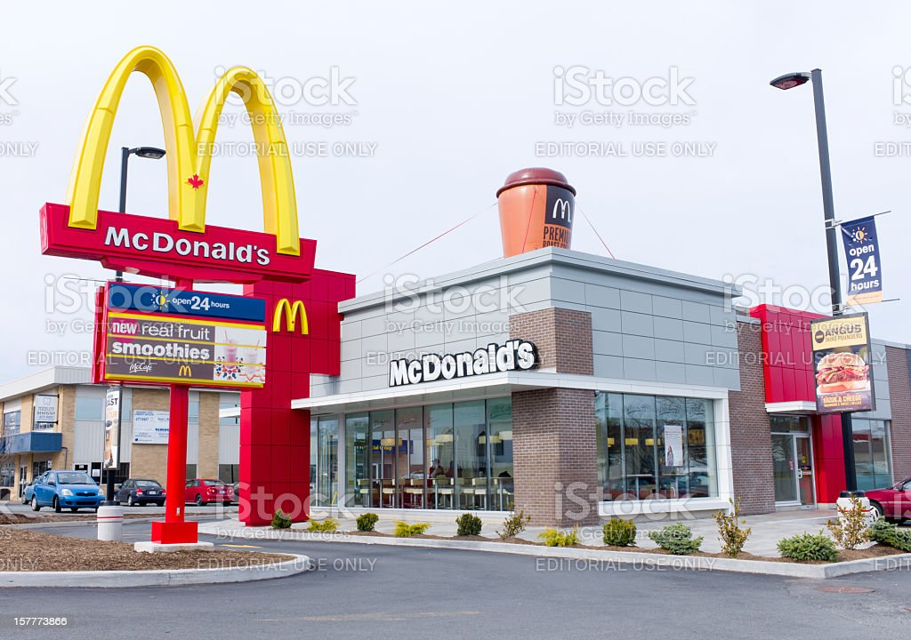 McDonalds Restaurant. royalty-free stock photo