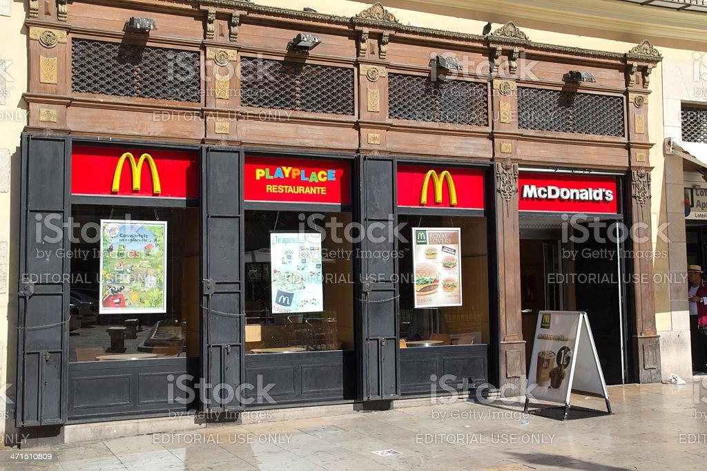 McDonalds Restaurant royalty-free stock photo