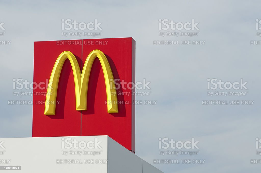McDonald's Sign on Left stock photo