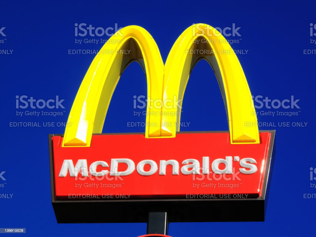 McDonald's Sign stock photo