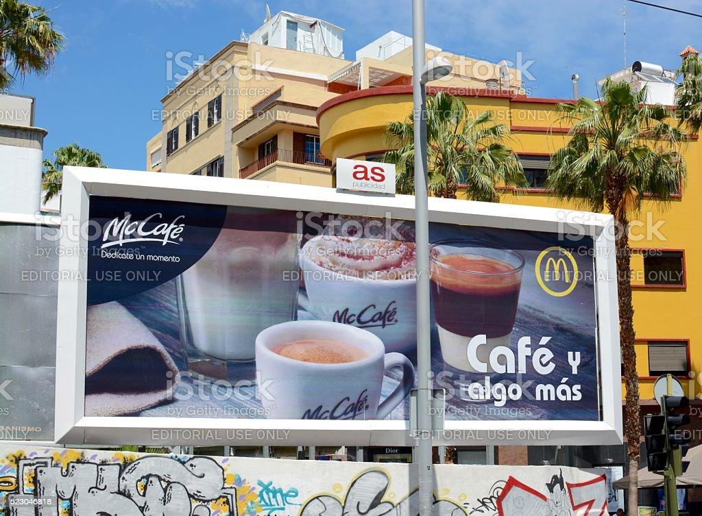 McDonalds Street advertisement stock photo
