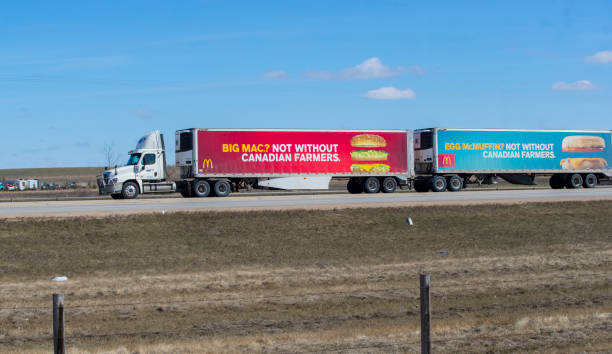 McDonald's Truck stock photo