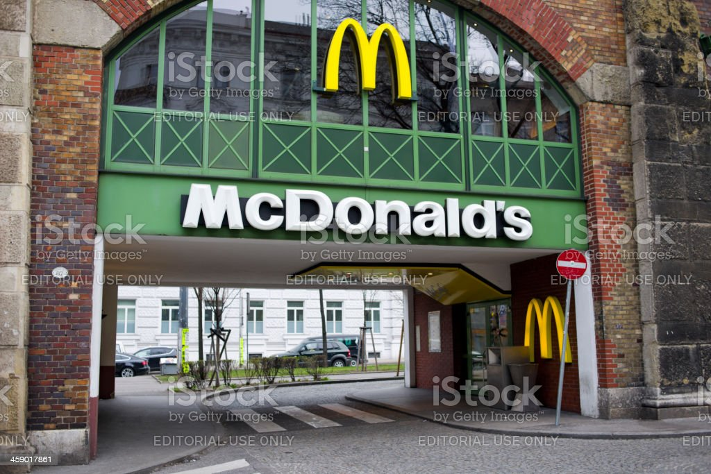 McDonald's, Vienna, Austria royalty-free stock photo