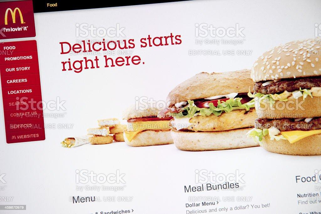 McDonald's Website royalty-free stock photo