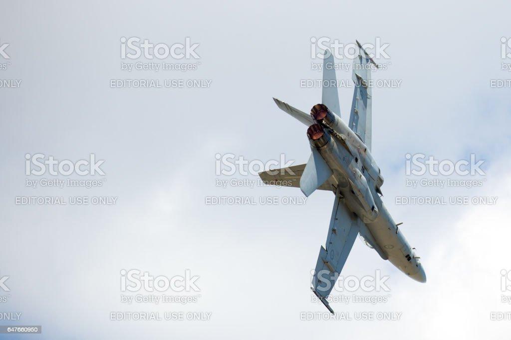 RAAF A21 McDonnell Douglas Boeing FA-18A Hornet stock photo