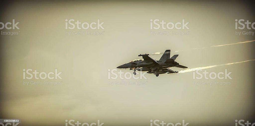 McDonnell Douglas F/A-18 Hornet Landing approach stock photo