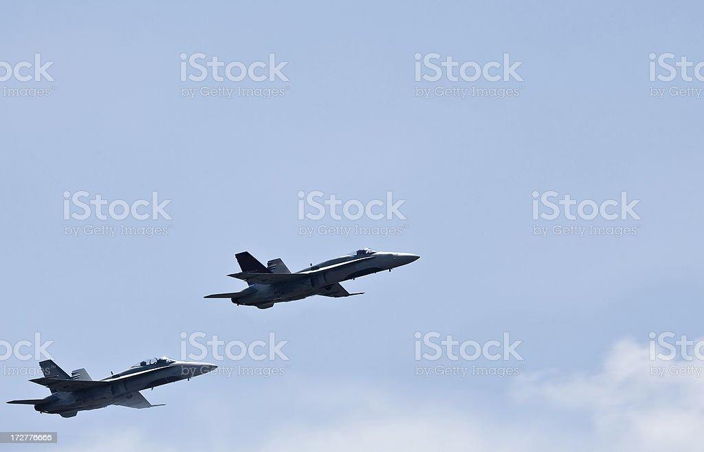 McDonnell Douglas FA-18 Hornets stock photo