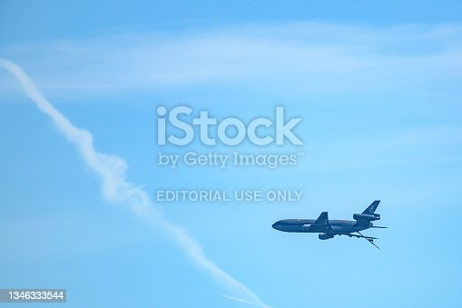 istock McDonnell Douglas KDC-10 military transport airplane of the Dutch Royal Air Force 1346333544