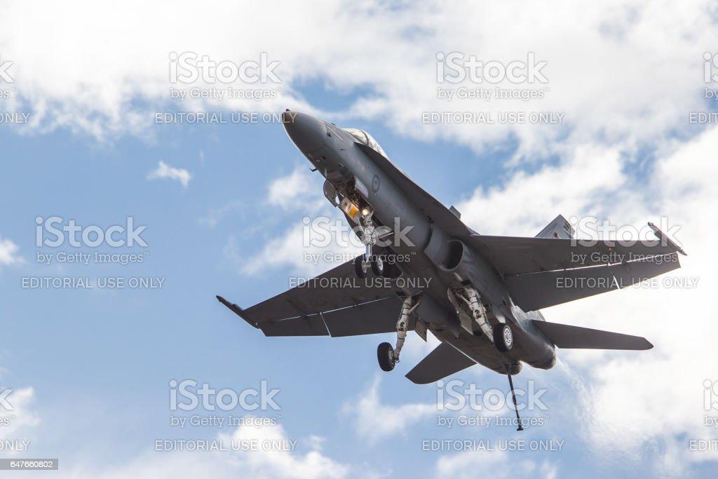 RAAF A21 McDonnell Douglas/Boeing F/A-18A Hornet stock photo