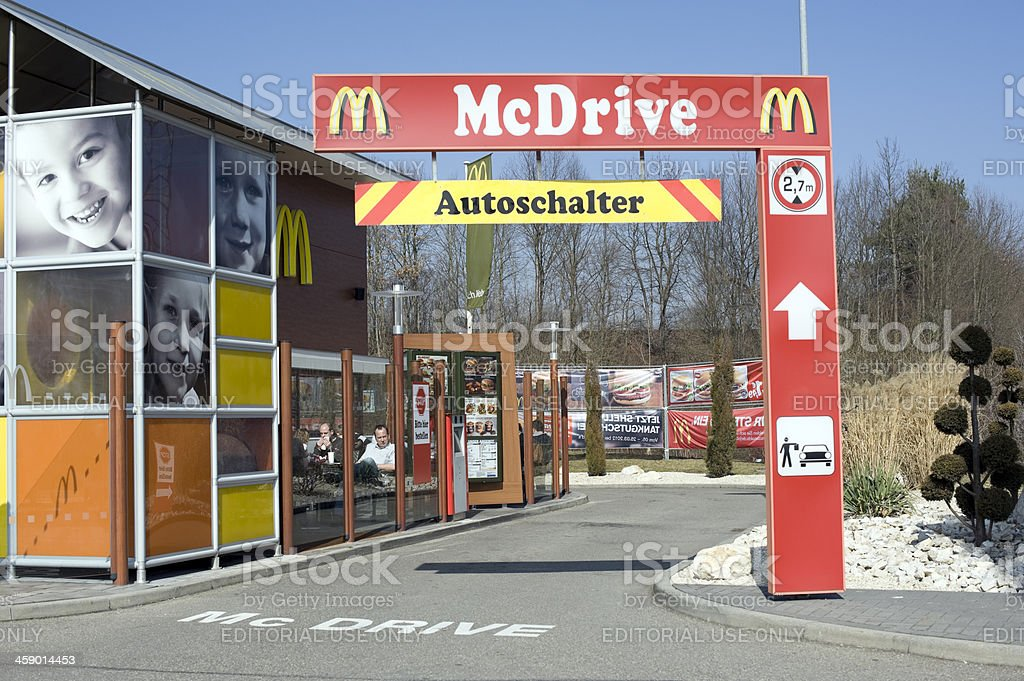 McDrive, Ilsfeld, Germany royalty-free stock photo