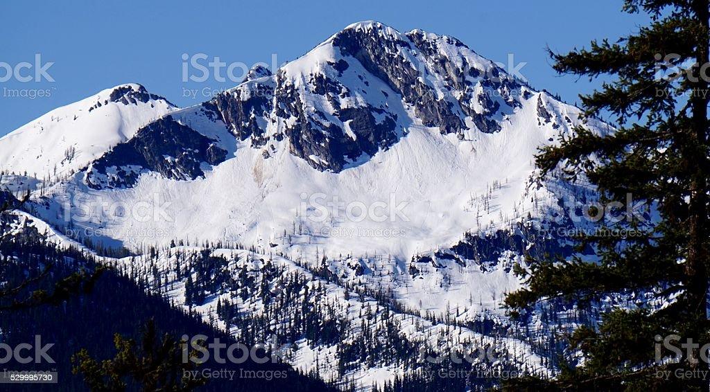 McGregor Mountain Ice stock photo