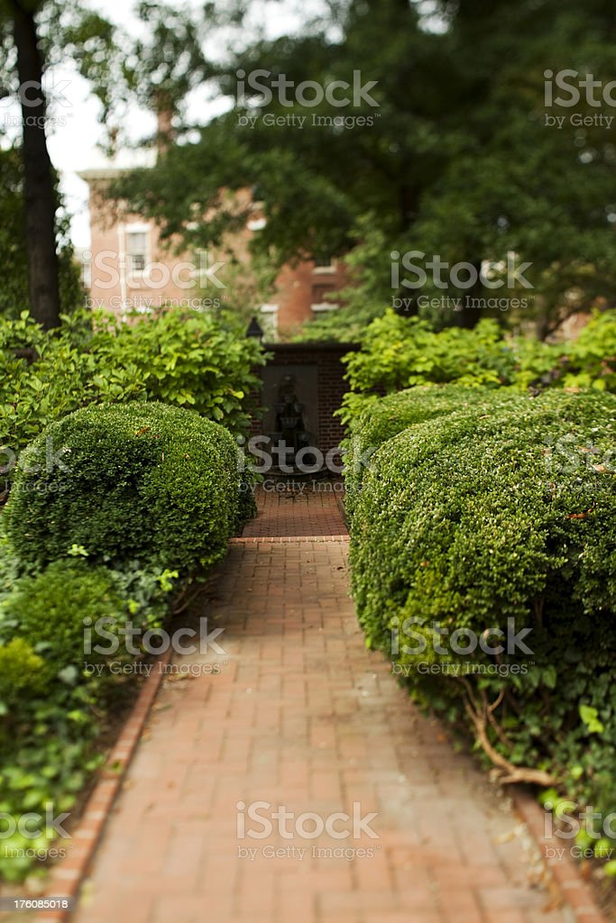 McIlvaine House garden stock photo