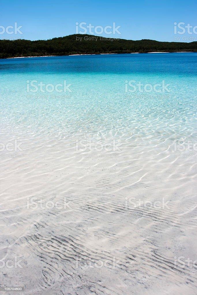 McKenzie Freshwater Lake in Fraser Island, Australia royalty-free stock photo