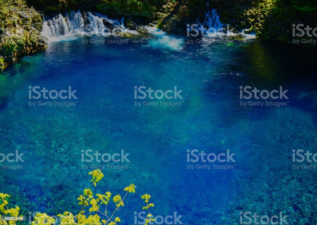 McKenzie River Blue Pool royalty-free stock photo