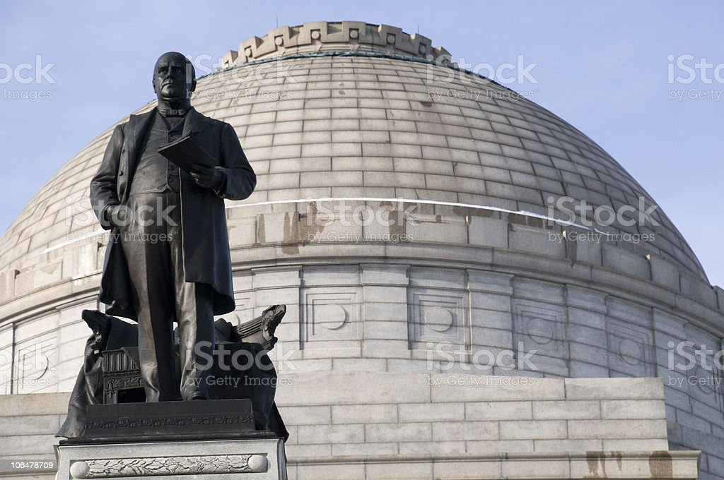 McKinley Monument stock photo