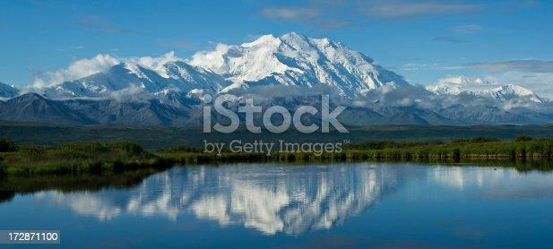A panorama over Mount McKinley,Alaska