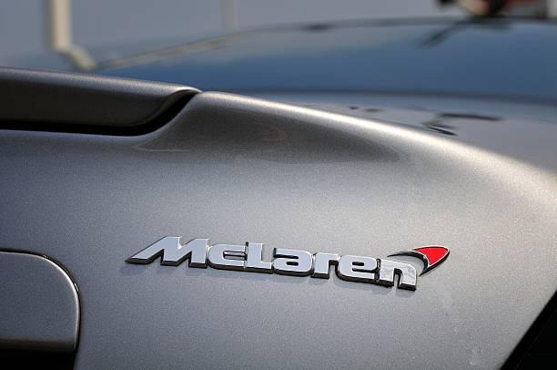 McLaren name on a SLR stock photo