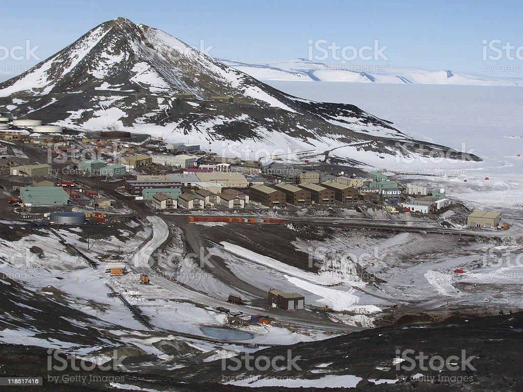 McMurdo Station, Antarctica stock photo