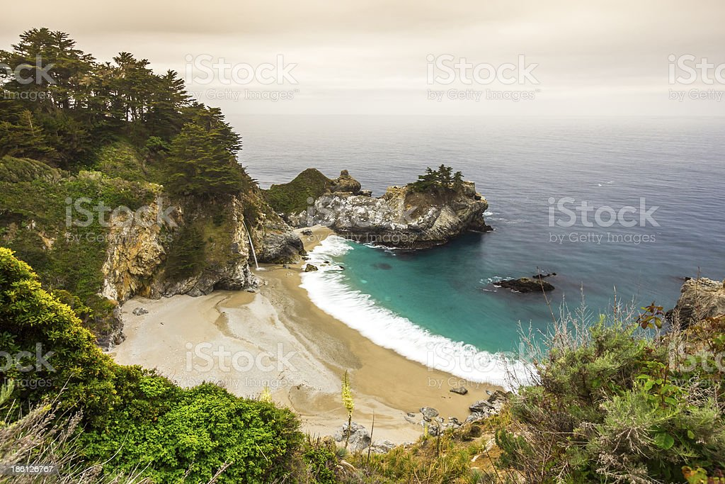 McWay Fall, Julia Pfeiffer State park, Big Sur, California, USA stock photo